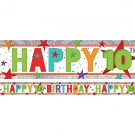Banner Happy 10th Birthday Foil