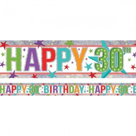 Banner Happy 30th Birthday Foil