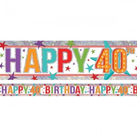 Banner Happy 40th Birthday Foil