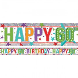 Banner Happy 60th Birthday Foil