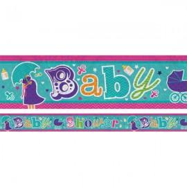Banner Baby Shower Foil Holgraphic