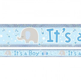Banner It's a Boy Animals & Pins Design Foil