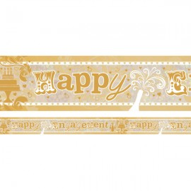 Banner Happy Engagement Foil Holographic