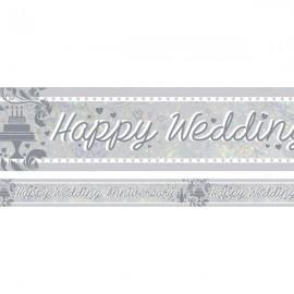 Banner Happy Wedding Anniversary Foil