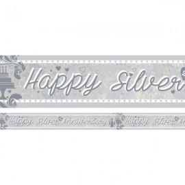 Banner Happy Silver 25th Anniversary Foil