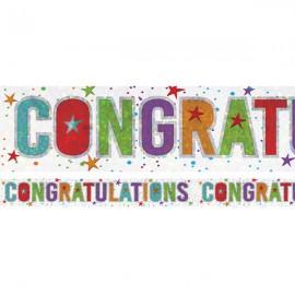 Banner Congratulations Foil Holographic