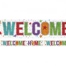 Banner Welcome Home Foil Holographic