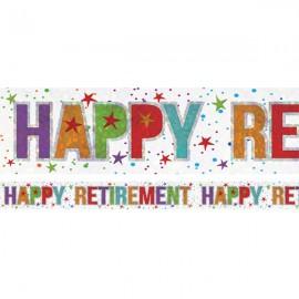 Banner Happy Retirement Foil Holographic
