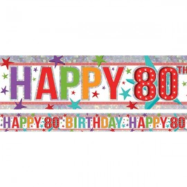 Banner Happy 80th Birthday Foil