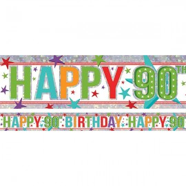 Banner Happy 90th Birthday Foil