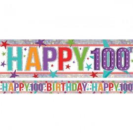 Banner Happy 100th Birthday Foil