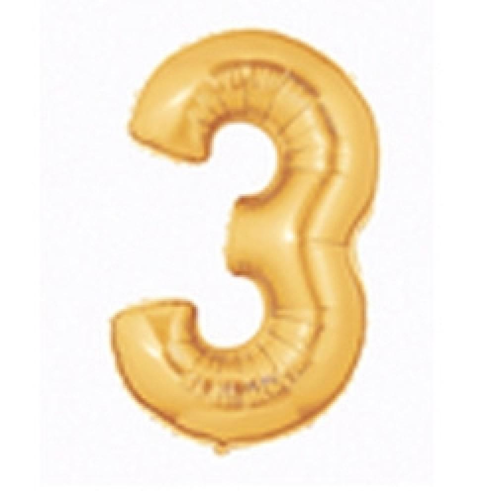 18cm Megaloon Junior No '3' Gold