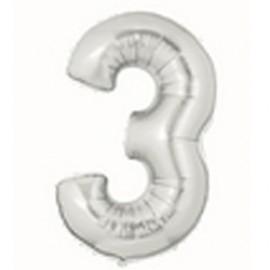 18cm Megaloon Junior No '3' Silver