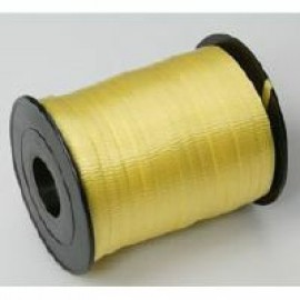 Ribbon Curling Crimped Yellow 5mm x 457mm