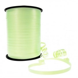 Ribbon Curling Crimped Light Green 5mm x 457mm