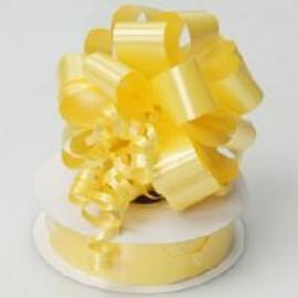 Pull String Bows P/Satin Yellow