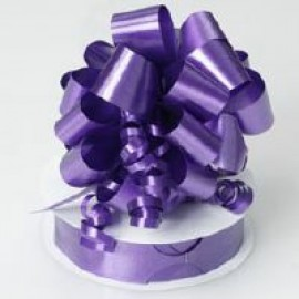 Pull String Bows P/Satin Purple