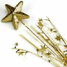 Spangles Foam Star Spray Gold