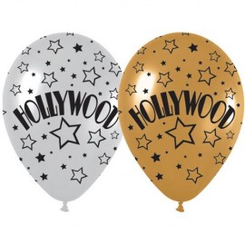 30cm Hollywood Gold & Silver Stars Metallic