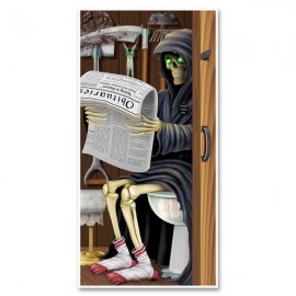 Door Cover Grim Reaper Restroom