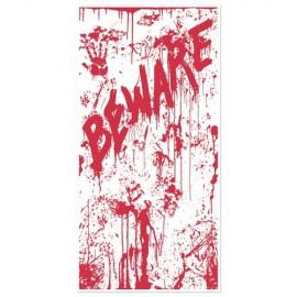 Door Cover Bloody 'Beware'