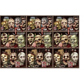 Backdrop Scary Zombie Heads Scene Setter