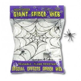 Spider Web Giant with 4 Large Spiders,