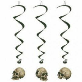 Hanging Decoration Whirls Skulls