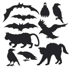 Black Animals Silhouettes Cutouts