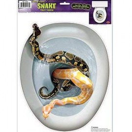 Sticker Peel N Place Snakes on  Toilet Seat
