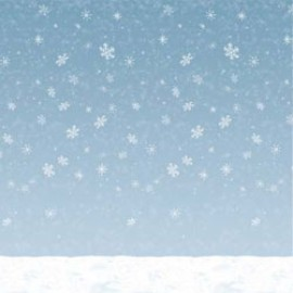 Backdrop Wall Winter Sky & Snow Scene Setter