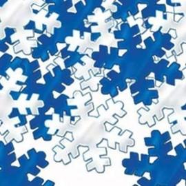 Confetti Snowflakes Blue & Silver