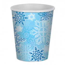 Snowflakes Cups Paper
