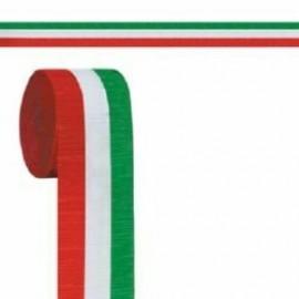 Crepe Streamer - Red, White & Green