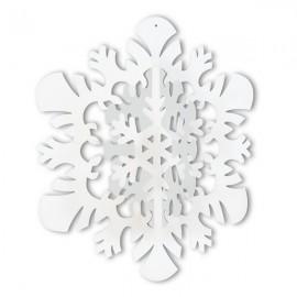 3-D Hanging Snowflake White