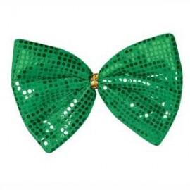 Jumbo Bow Tie Green Glitz N Gleam
