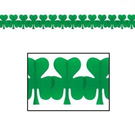 Garland Irish Clovers Green Tissue Paper 3.7m