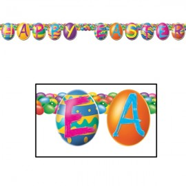 Banner Streamer Happy Easter Colour Bright
