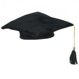Cap Graduation Plush Black with Tassle
