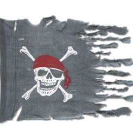 Pirate Flag Weathered Look