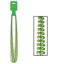 Party Beads Assorted Green & Gold
