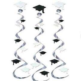 Hanging Decoration Graduation Cap Whirls