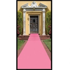 Pink Mock Carpet Floor Runner