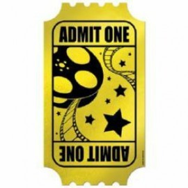 Admit One Foil Golden Ticket