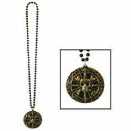 Necklace with Pirate Coin Medallion
