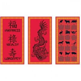 Chinese Cultural Cutouts 25cm x 51cm