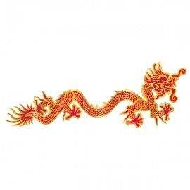 Jointed Dragon 92cm Red & Gold