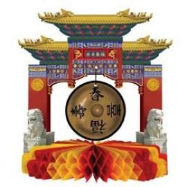 Centrepiece Asian Gong