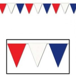 Giant Pennant Banner Red White and Blue