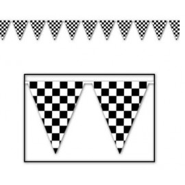 Pennant Banner Checkered Black & White 36.5m
